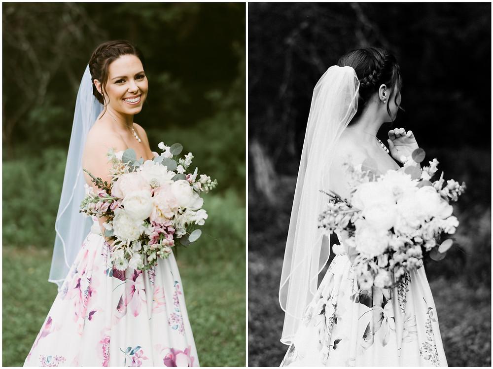 Adventurous bridal portraits in Vermont