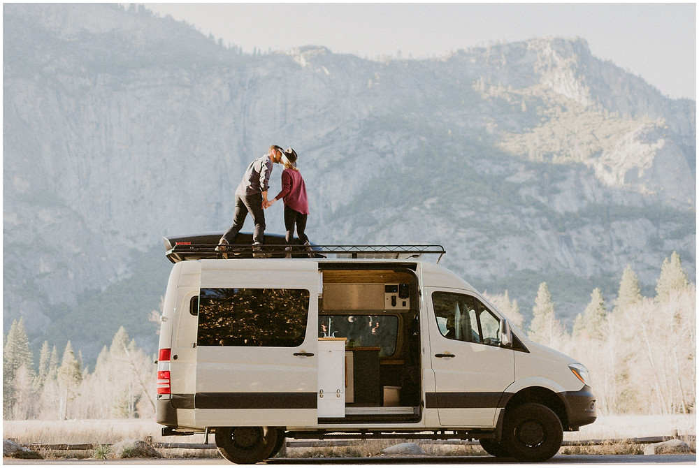 Couple's van lifestyle session in California by Mountainaire Gatherings