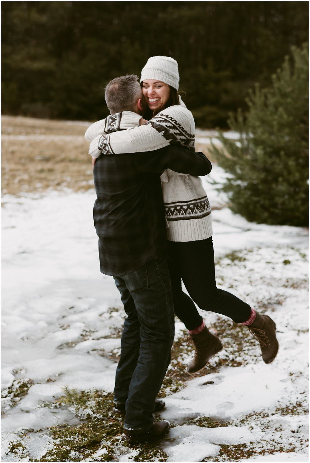 Lake Placid, NY engagement session by Mountainaire Gatherings