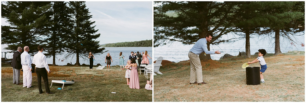 summer wedding on a lake