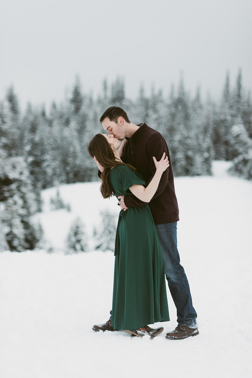 Winter Anniversary Session in Big Cottonwood Canyon | Salt Lake City Elopement Photographer