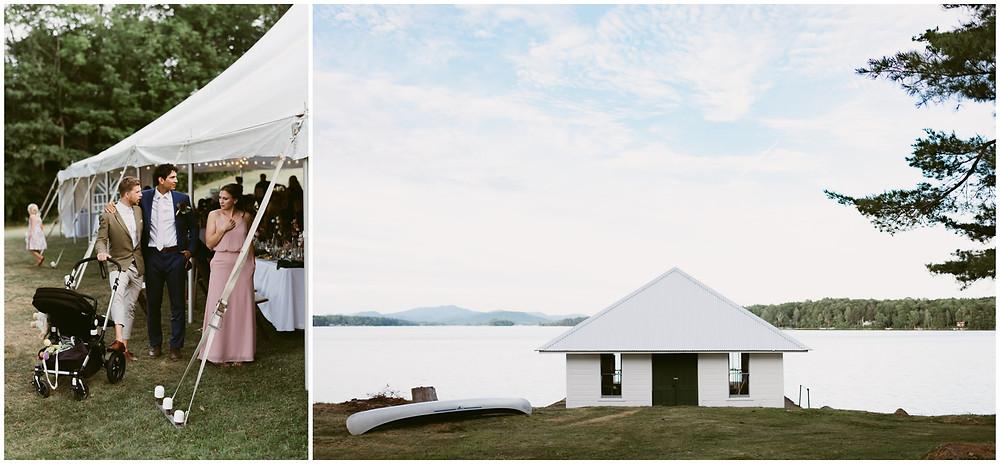 summer wedding on Lake Pleasant