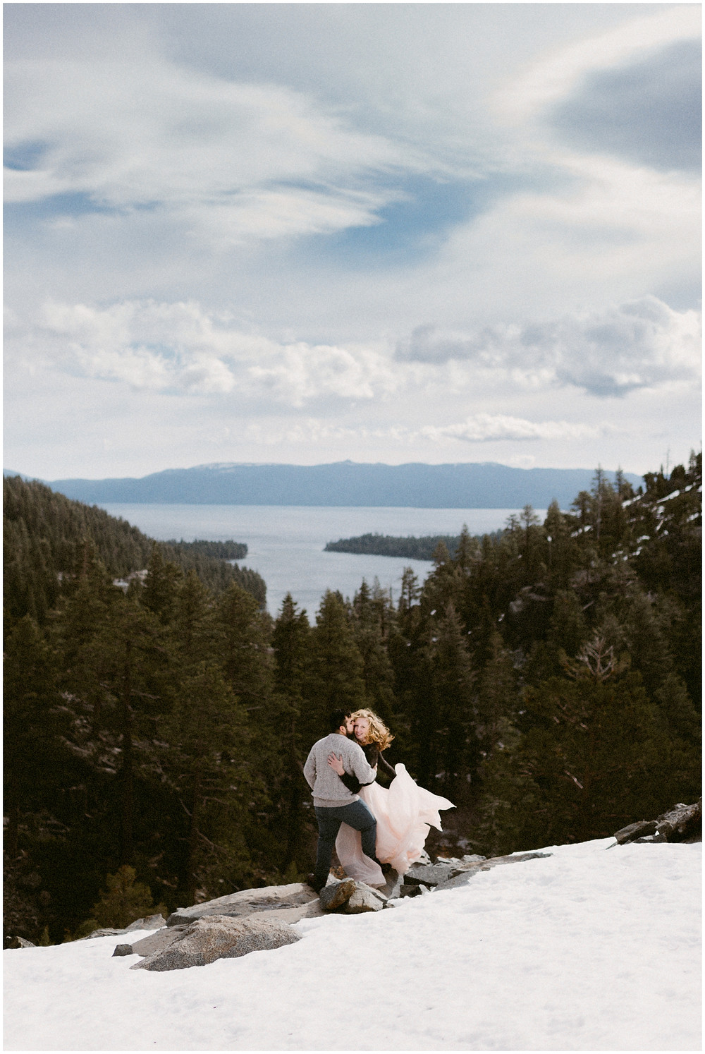 Emerald Bay engagement photographer