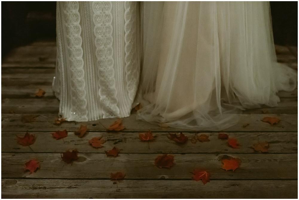 LGTBQ fall mountain wedding in upstate New York