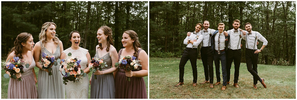outdoor fall wedding in the hudson valley