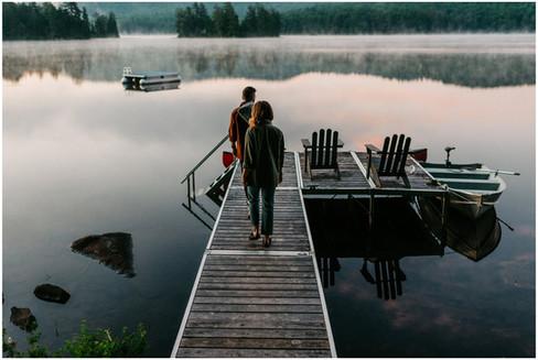 Cozy Cabin Session | The North Pine Cabin, Whittaker Lake | Adirondack Wedding Photographer