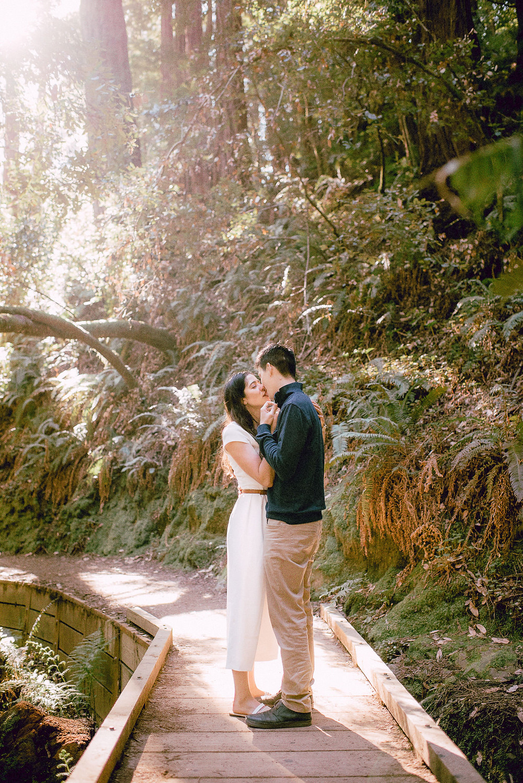 Romantic Engagement Photos in Muir Woods, California