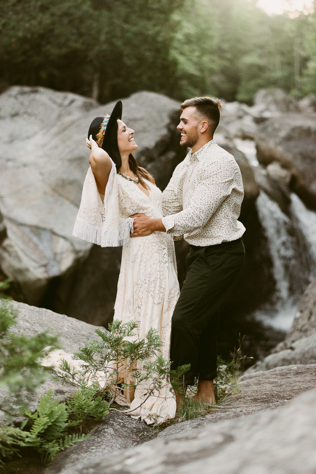 Bohemian Engagement Session in Keene Val