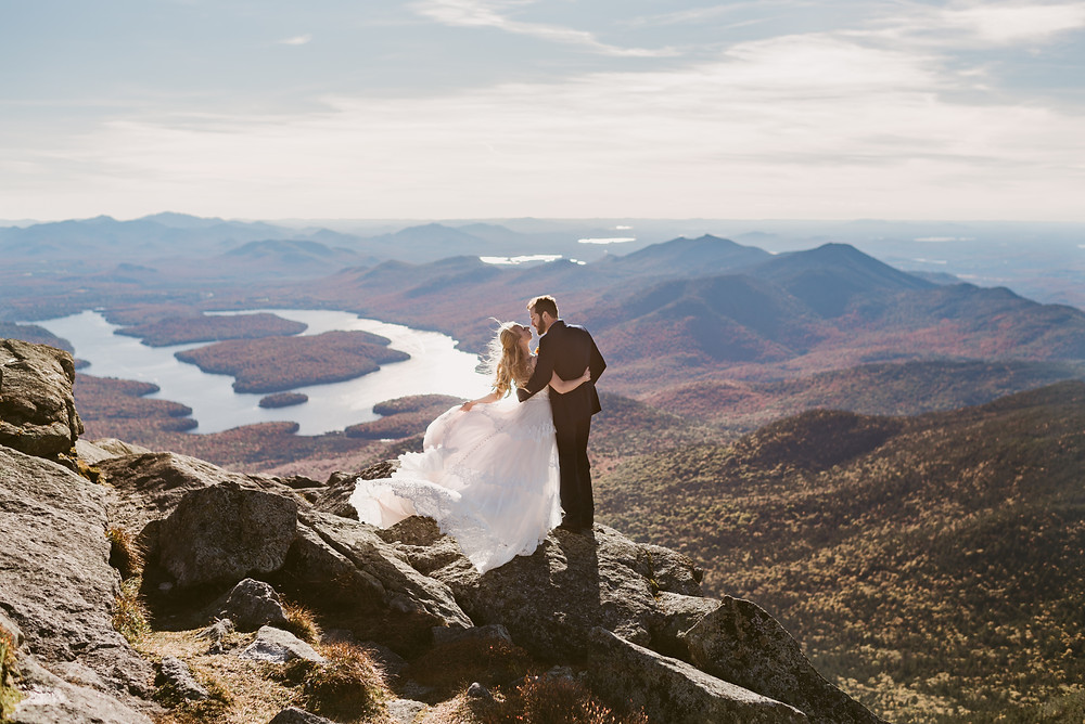 Adventurous Lake Placid wedding and elopement photographer on Whiteface mountain | Mountainaire Gatherings