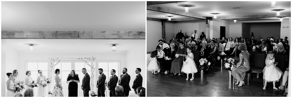 Indoor wedding ceremony at the Mountain Top Inn and Resort in Vermont