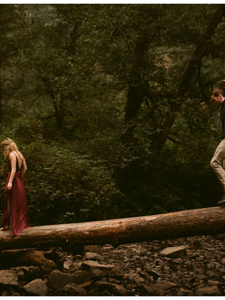 Molly & Cody's Engagement Session at Silver Falls State Park in Oregon