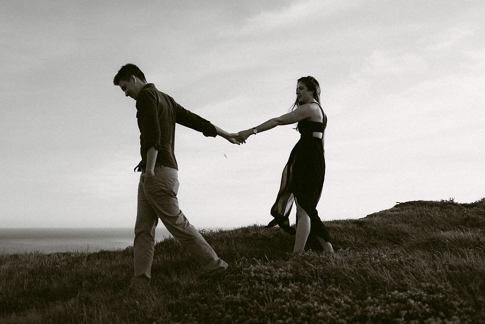 Adventurous engagement session at Point Reyes in California