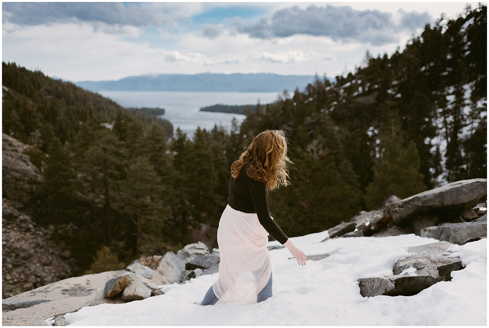 Emerald Bay, Lake Tahoe engagement photos