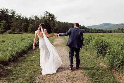 Summer Wedding in Marcy Field, Keene NY.