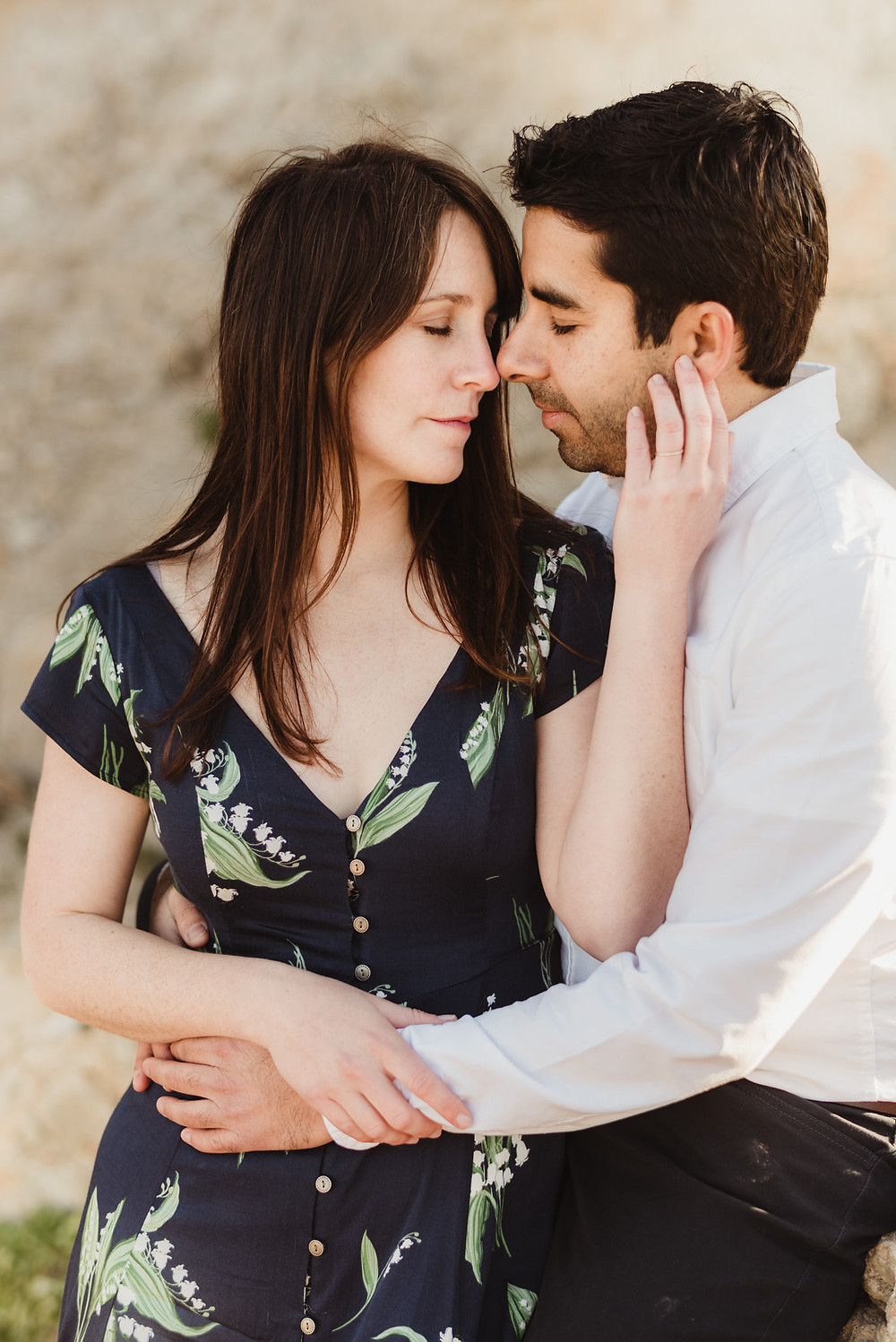 Romantic Sunrise Engagement Session at Sutro Baths, California