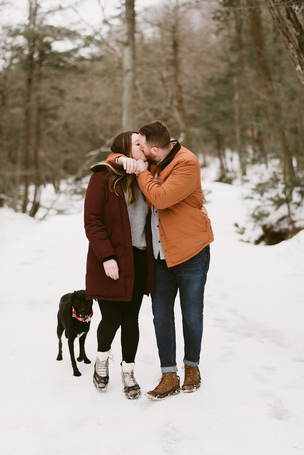 Winter engagement session in the Hudson Valley