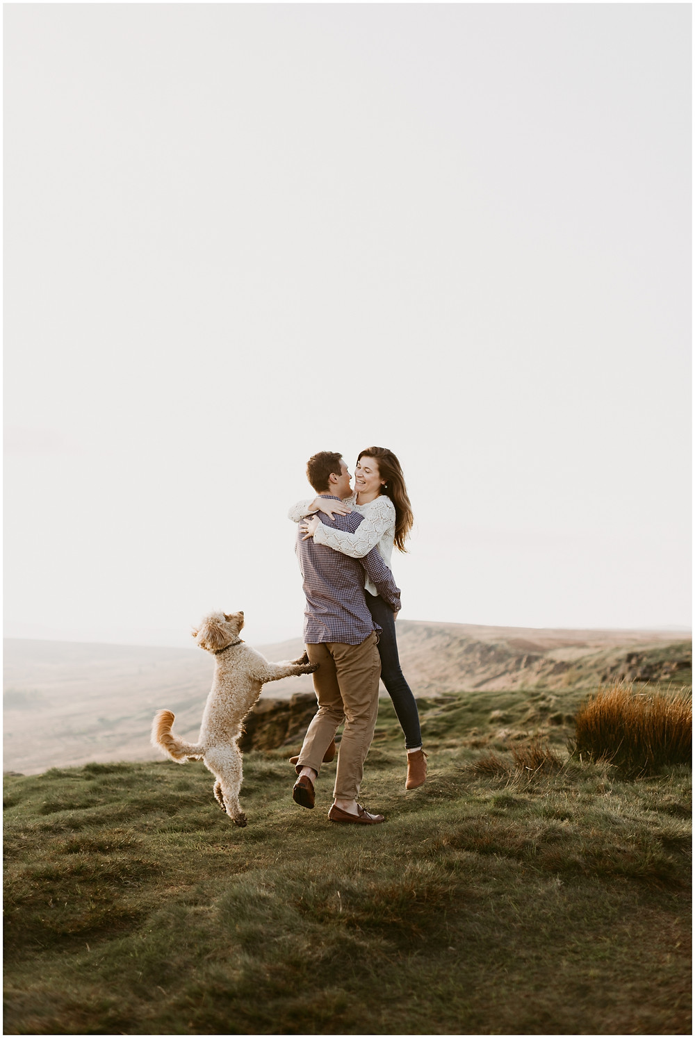 Engagement photos with your dog in England by Mountainaire Gatherings