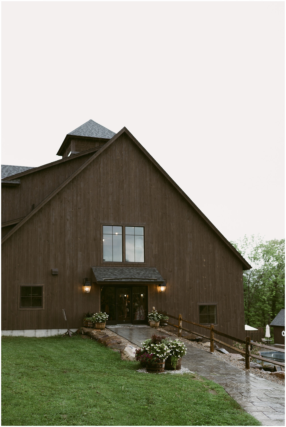 Barn venue at the Mountain top Inn and resort