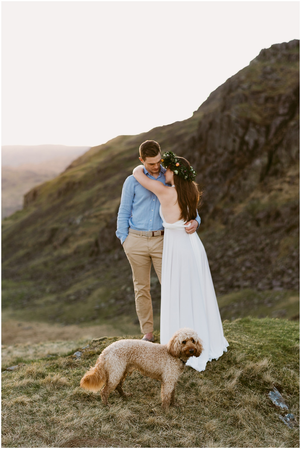 Bride and groom portraits in the Lake District, United Kingdom