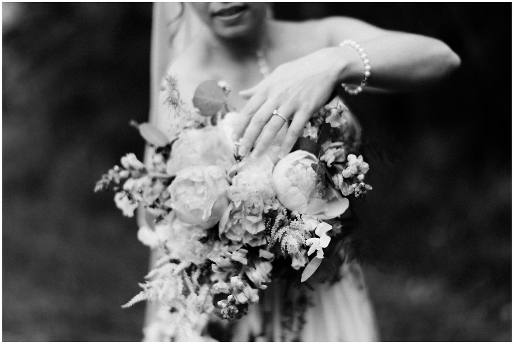 Bridal bouquet by the florists at the Mountain Top Inn
