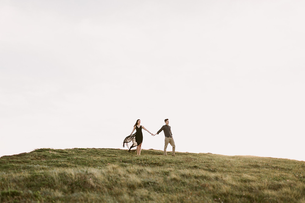 Romantic engagement session at Point Reyes in Marin County, California