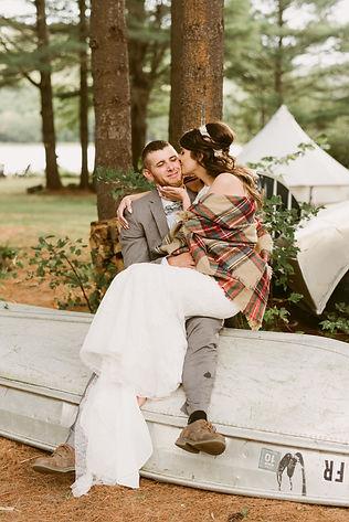 Fall wedding at Wintergreen Lake in upstate NY