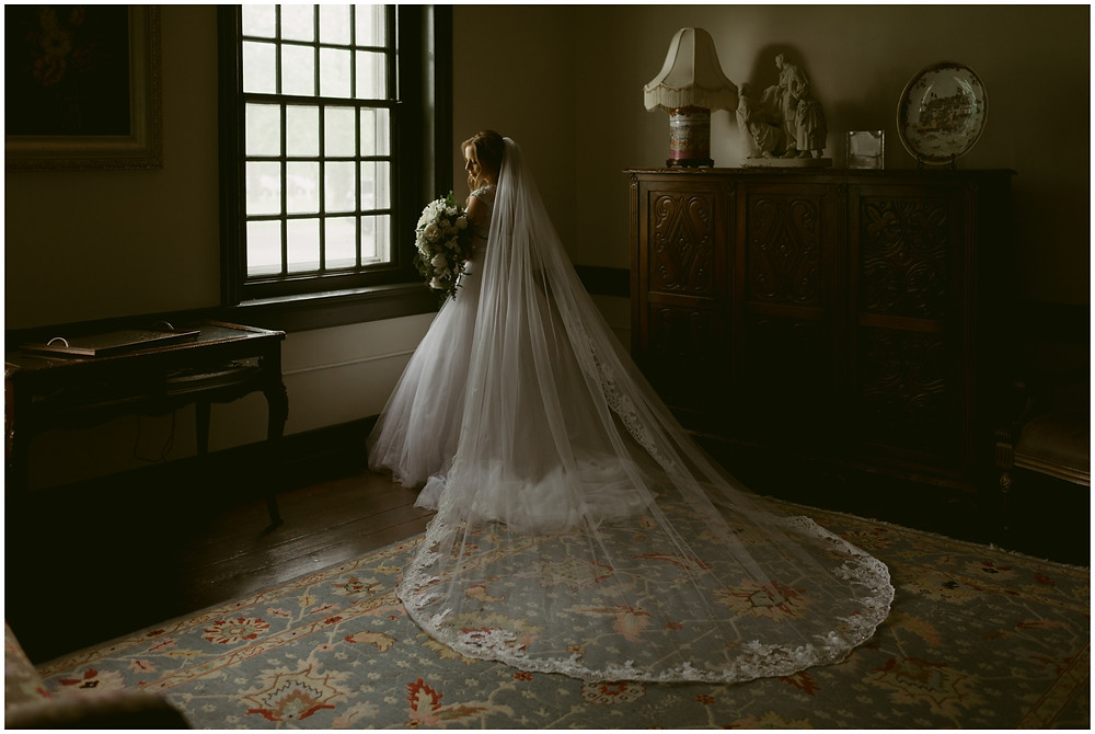 Bridal portraits at Worsell Manor