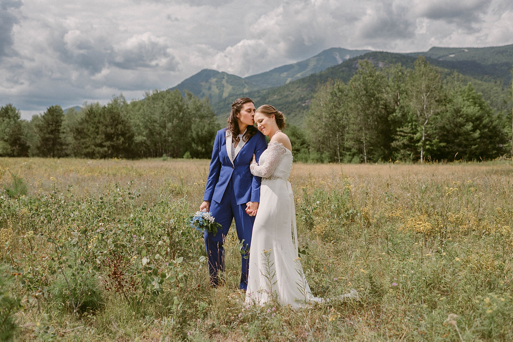 Lesbian wedding in Lake Placid by LGBTQ-friendly New York photographer Mountainaire Gatherings