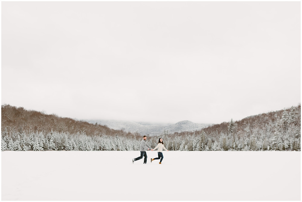 Engagement session at Heart Lake in the Adirondack mountains by Mountainaire Gatherings