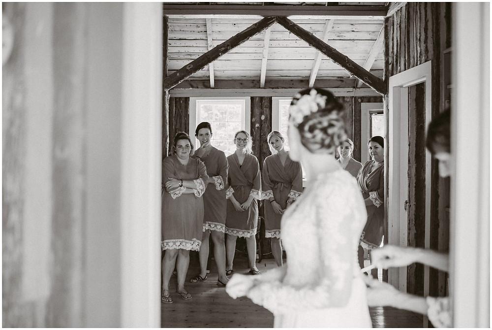 summer camp wedding in new england