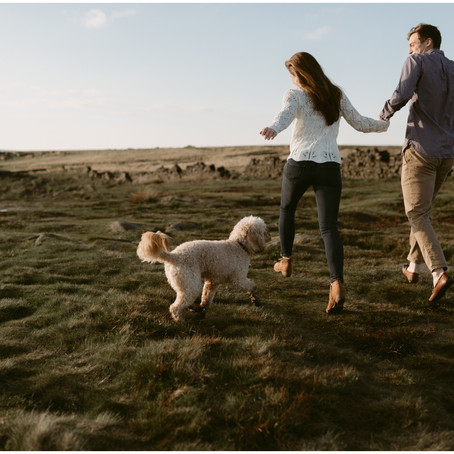 Dog Lovers Engagement Session | Sheffield, UK | Destination Elopement Photographer