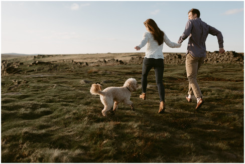 Dog Lovers Engagement Session | Sheffield, UK | Destination Elopement Photographer