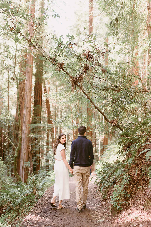 Adventurous Engagement Session in Muir Woods, California
