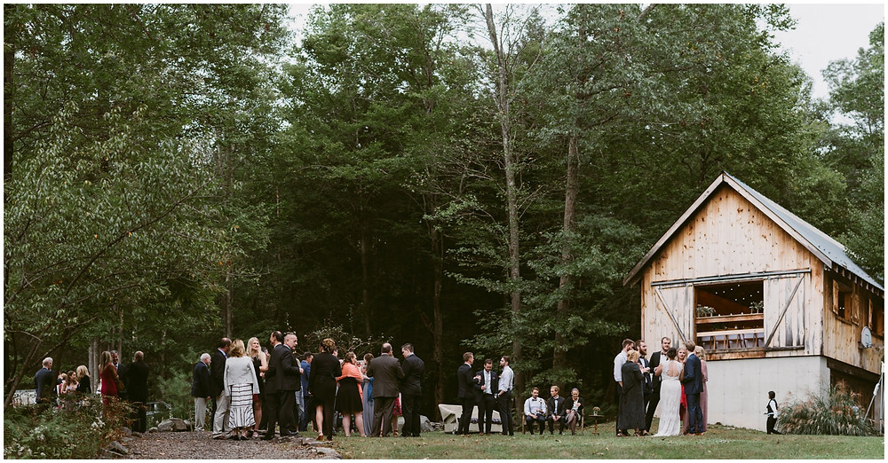 outdoor wedding in the catskill mountains