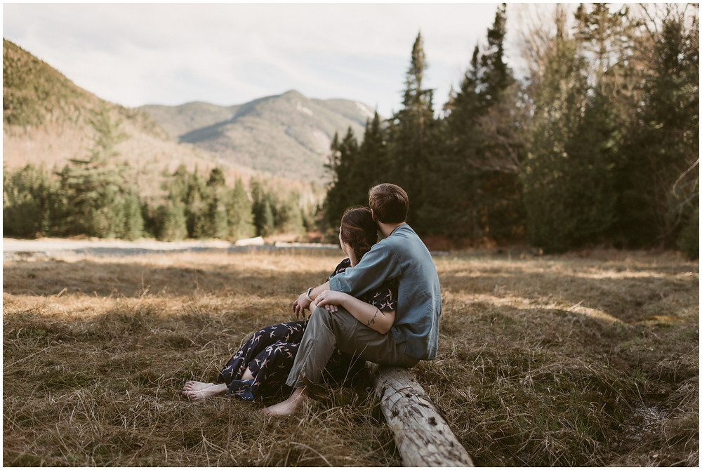 Outdoor engagement photos in the mountains by Mountainaire Gatherings