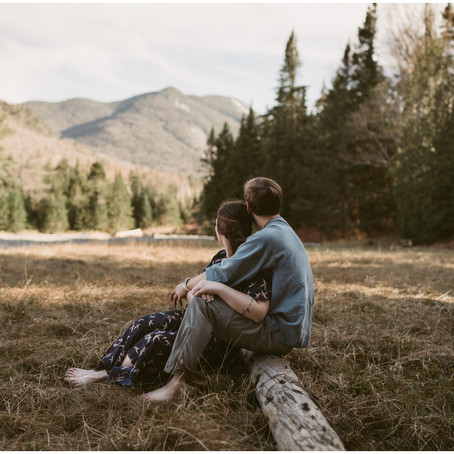 Adventurous Engagement Session | Marcy Dam, NY | Outdoor Adirondack Couple's Photographer