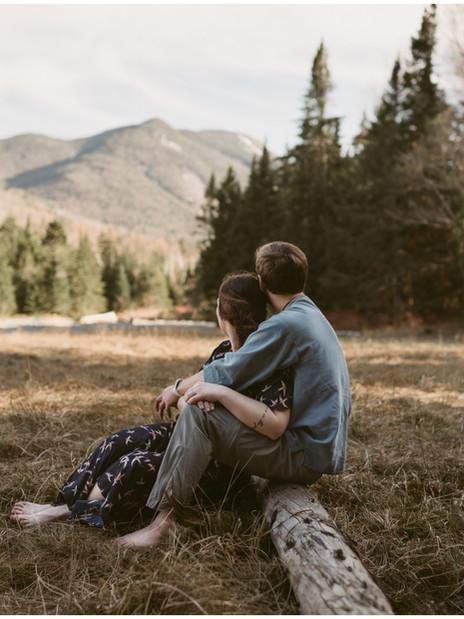 Adventurous Engagement Session | Marcy Dam, NY | Outdoor Adirondack Couple's Photographer