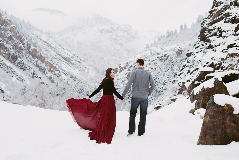 Winter Anniversary Session in Utah | Little Cottonwood Canyon Photographer