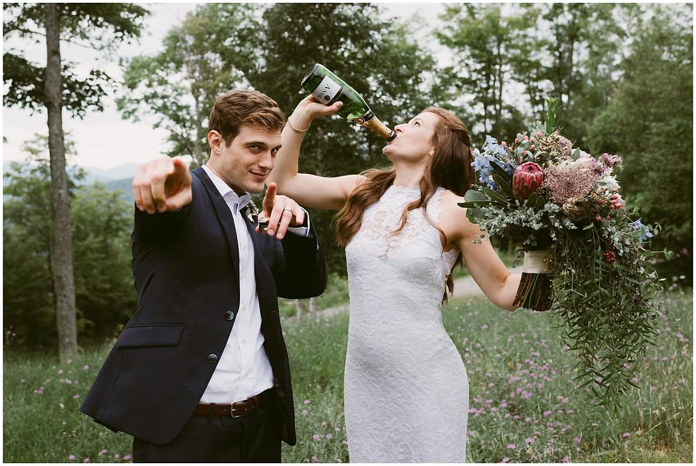 bohemian wedding in the adirondack mountains