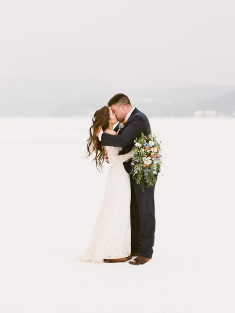 Intimate Winter Wedding on Schroon Lake in Upstate New York | Adirondack Wedding Photographer