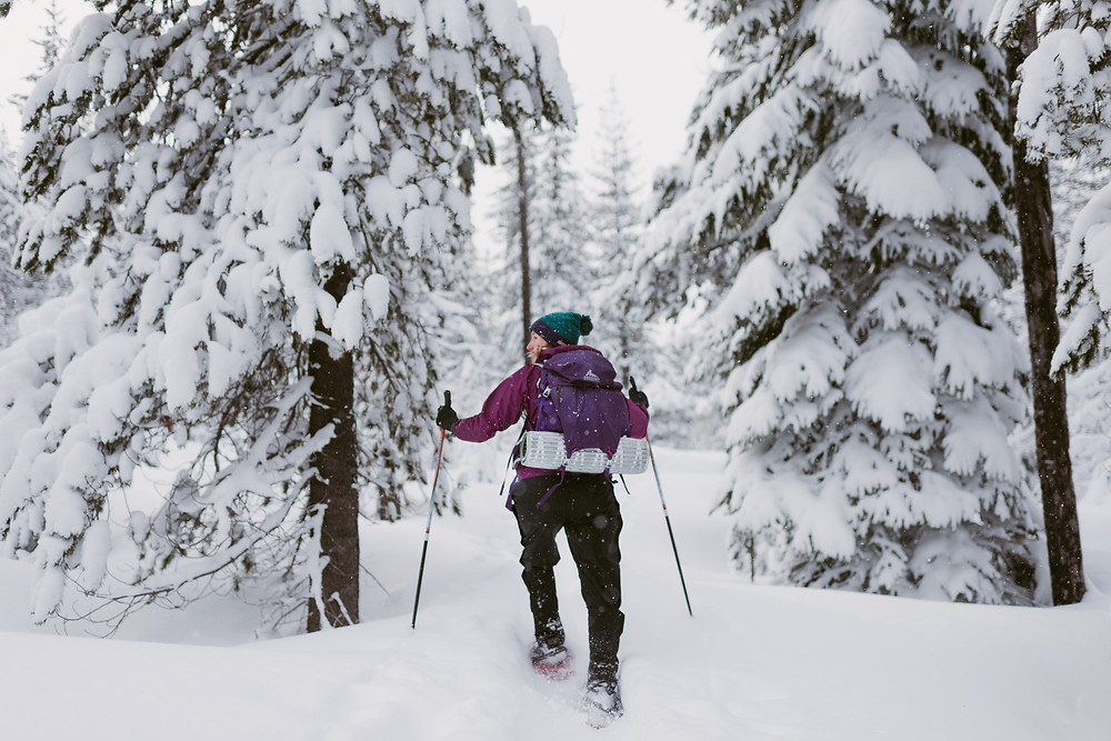 Winter Snowshoeing Adventure in Santiam Pass, Oregon by Mountainaire Gatherings Photography
