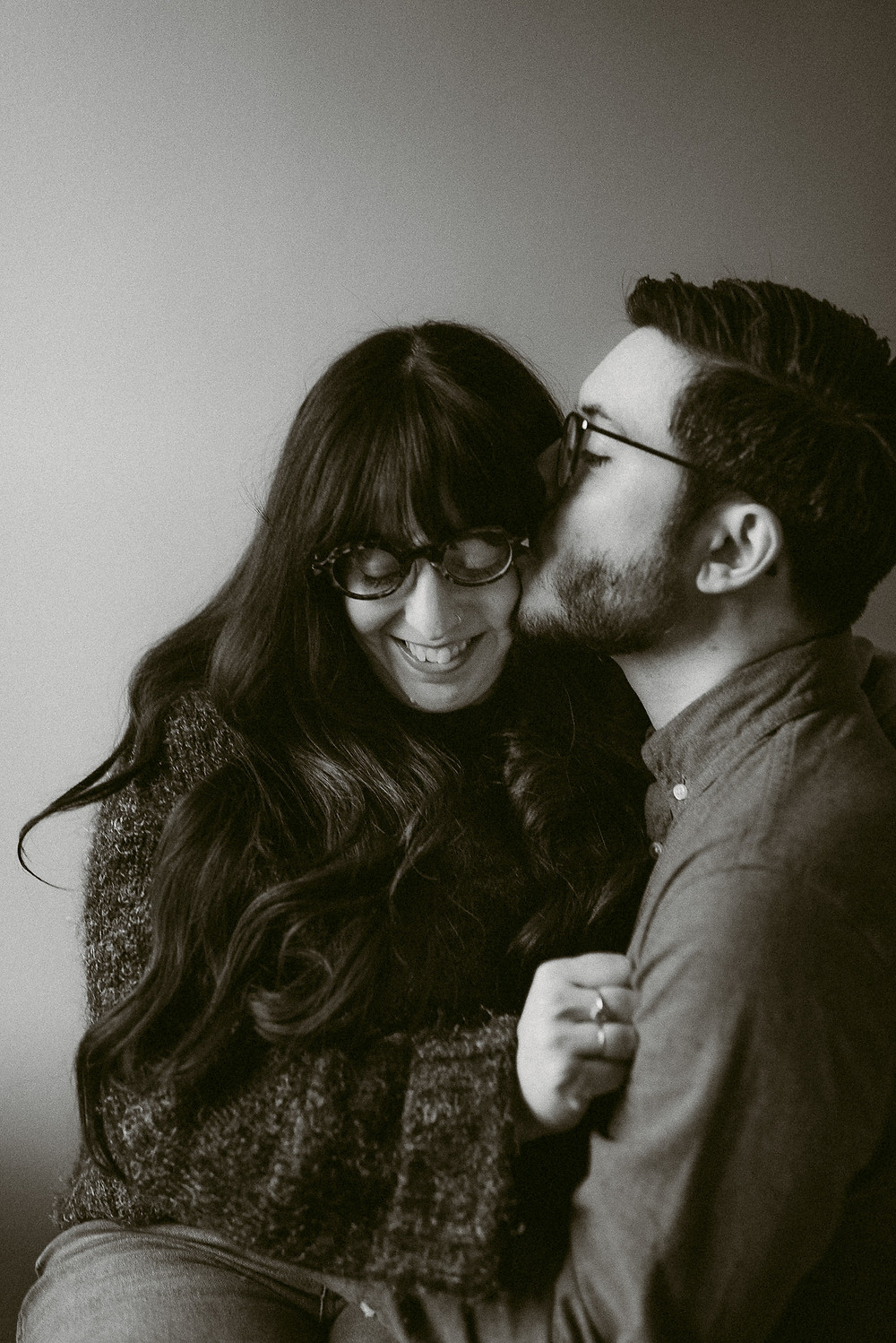 Comfortable In-Home Engagement Session | Hudson Valley Wedding Photographer | Mountainaire Gatherings