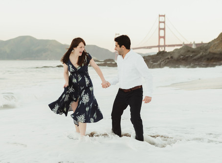 A Romantic Sunrise Engagement Session in San Francisco | California Wedding Photographer