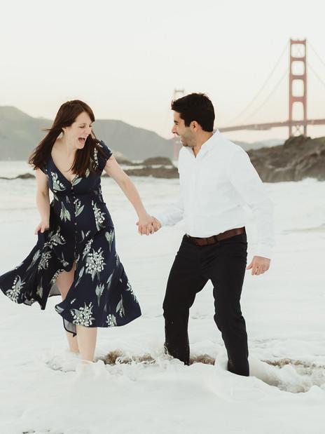 A Romantic Sunrise Engagement Session in San Francisco | California Wedding Photographer