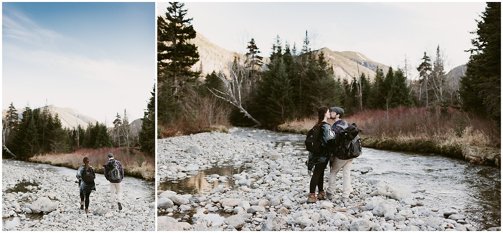 Hiking adventure session in Lake Placid by Mountainaire Gatherings