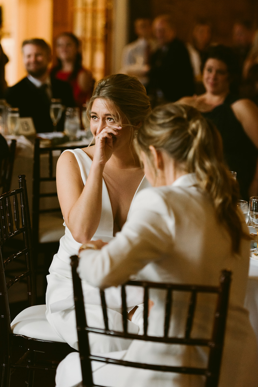 Lesbian wedding at Fontainebleau Inn in Ithaca, NY by New York wedding photographer Mountainaire Gatherings