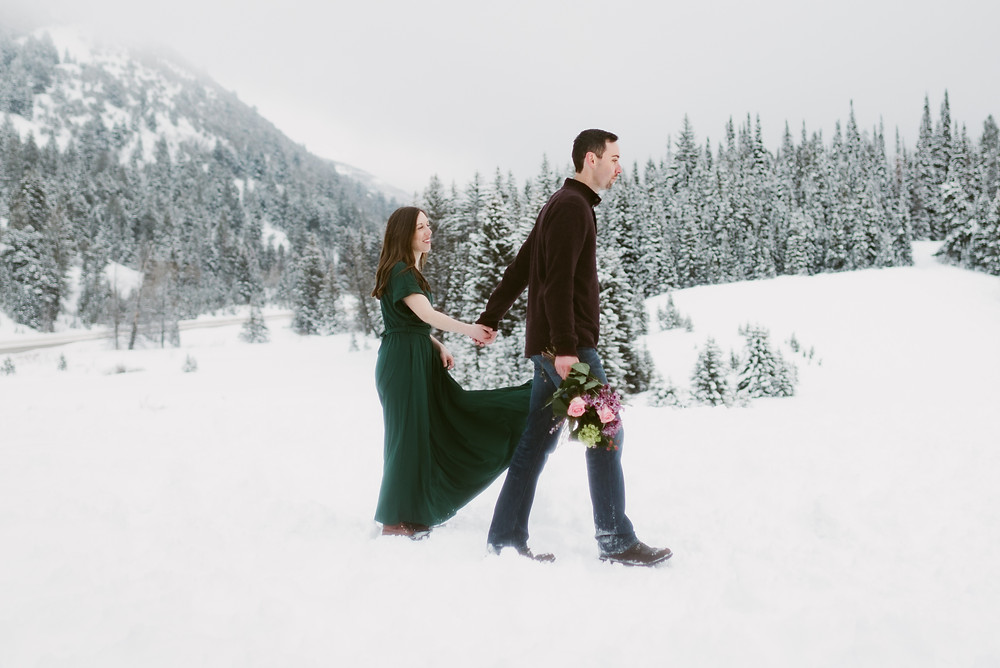 Adventurous Anniversary Session in Little Cottonwood Canyon | Salt Lake City Wedding Photographer