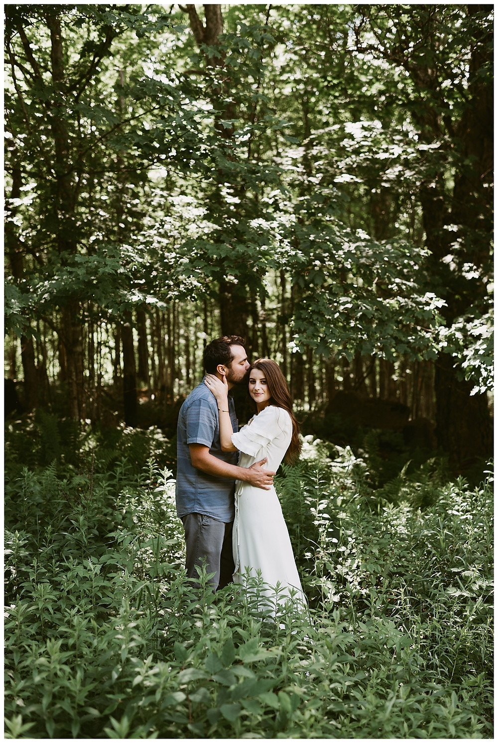 Romantic outdoor engagement session in Tupper Lake, NY by Mountainaire Gatherings