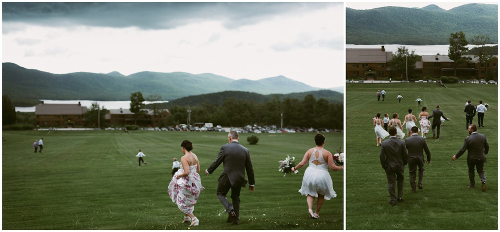 Stormy spring wedding in the mountains of VT