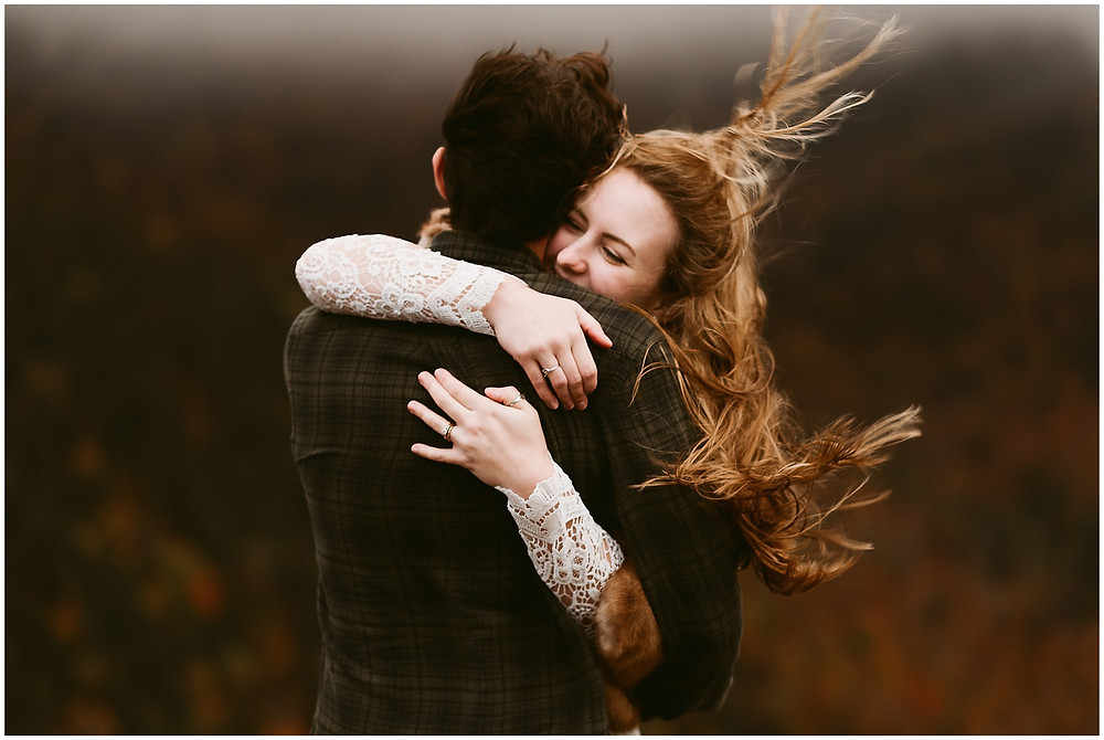 windy wedding photos in the adirondack mountains by Mountainaire Gatherings